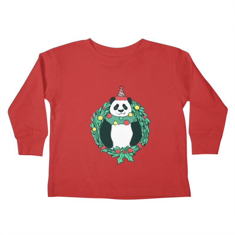 Beary Christmas Kids Toddler Longsleeve T-Shirt by xiaobaosg