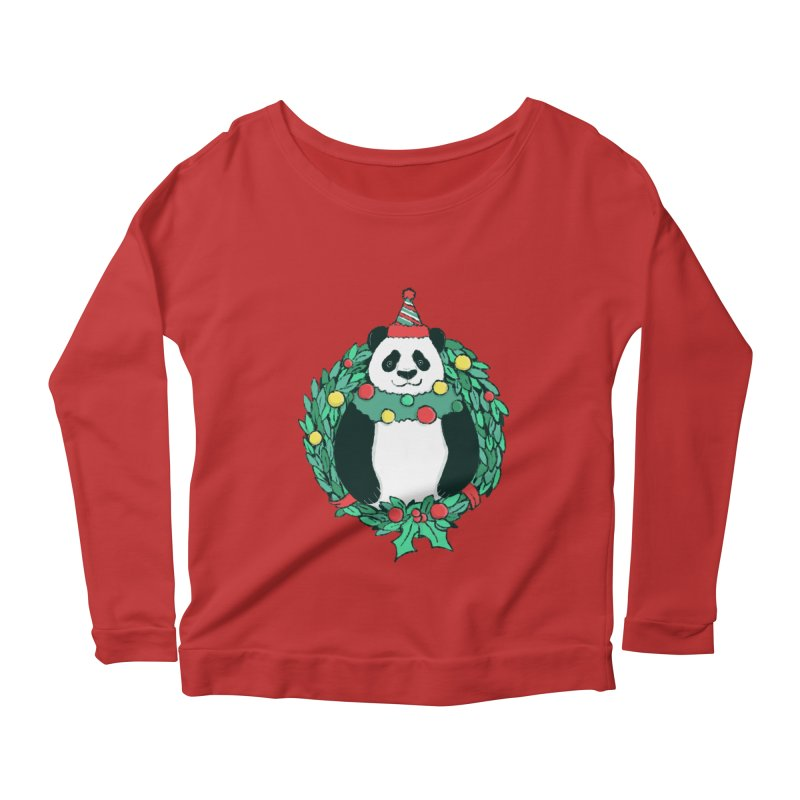 Beary Christmas Women's Scoop Neck Longsleeve T-Shirt by xiaobaosg