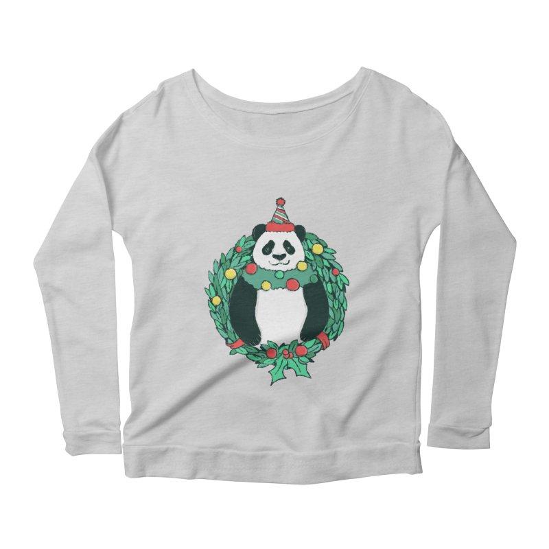 Beary Christmas Women's Scoop Neck Longsleeve T-Shirt by xiaobaosg