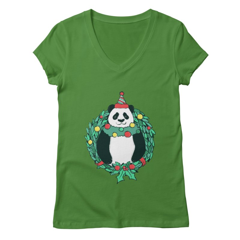 Beary Christmas Women's Regular V-Neck by xiaobaosg