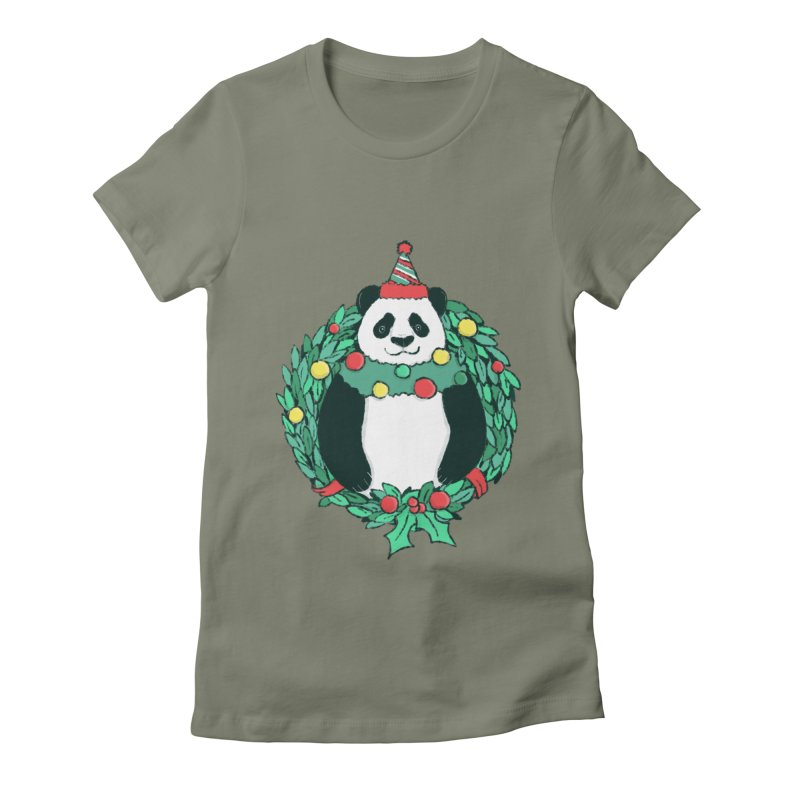 Beary Christmas Women's Fitted T-Shirt by xiaobaosg