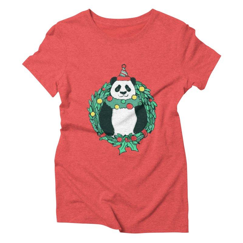 Beary Christmas Women's Triblend T-Shirt by xiaobaosg