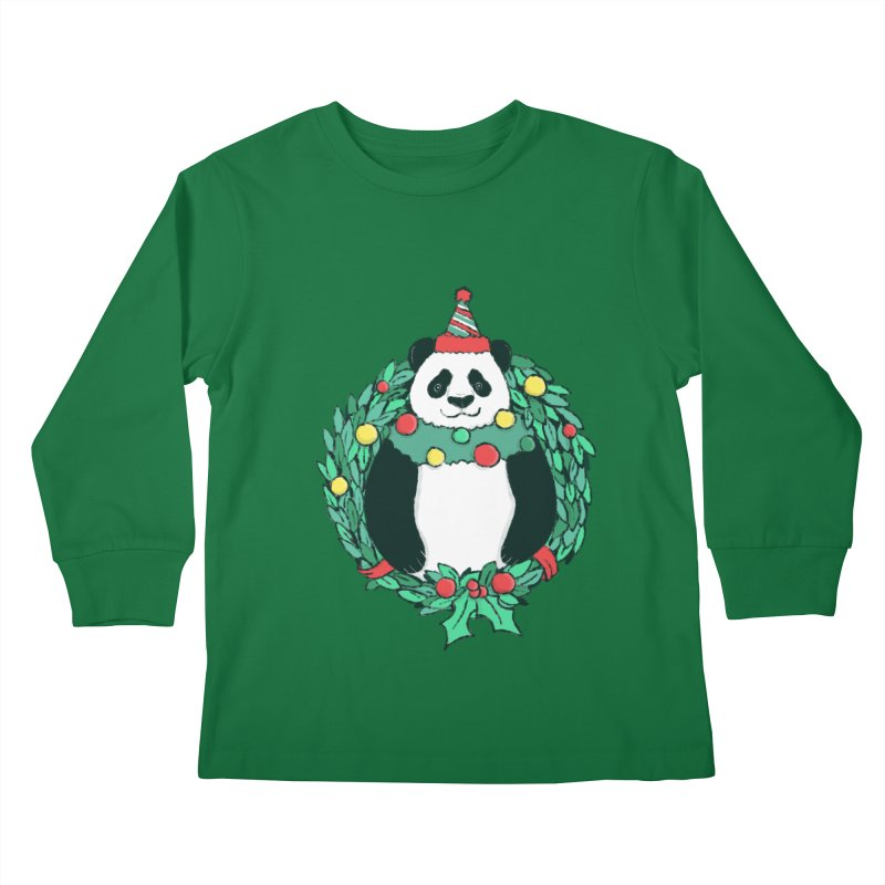 Beary Christmas Kids Longsleeve T-Shirt by xiaobaosg