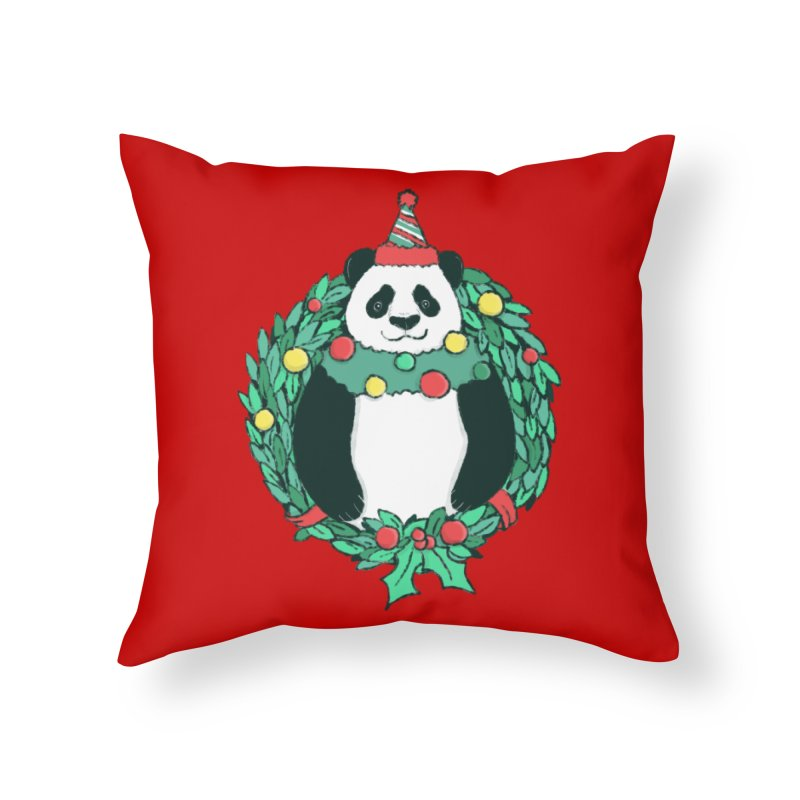 Beary Christmas Home Throw Pillow by xiaobaosg