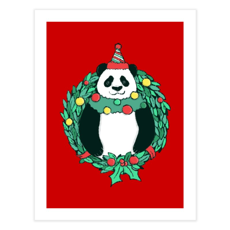 Beary Christmas Home Fine Art Print by xiaobaosg