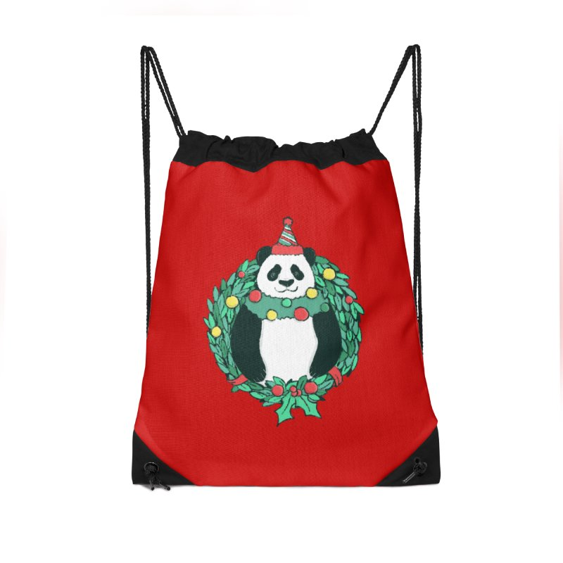 Beary Christmas Accessories Drawstring Bag Bag by xiaobaosg