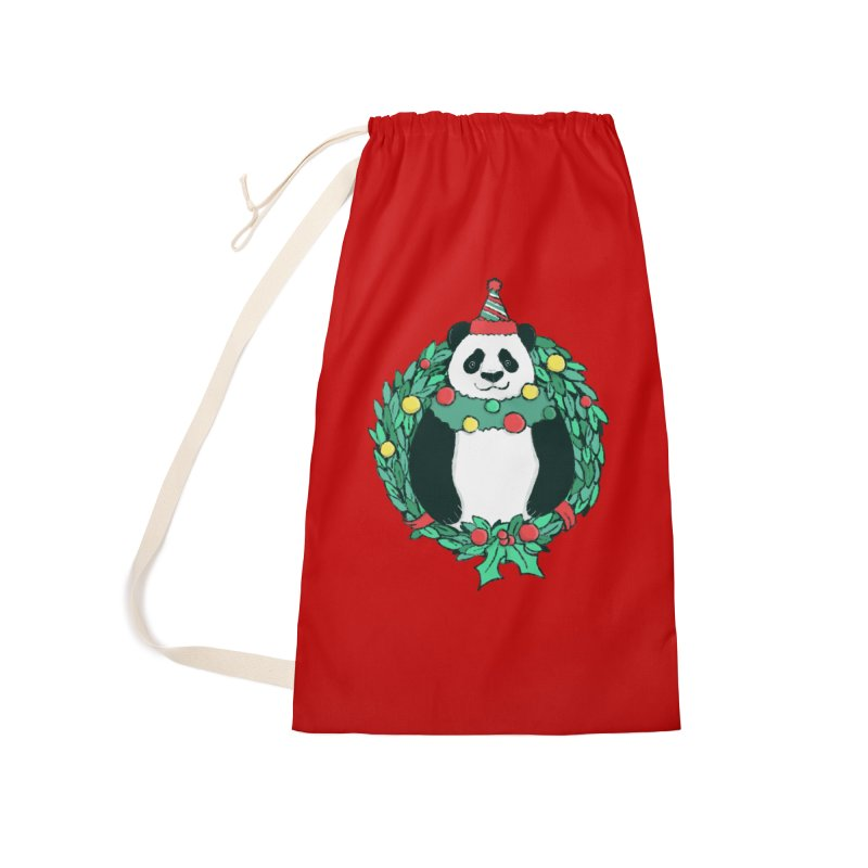 Beary Christmas Accessories Laundry Bag Bag by xiaobaosg