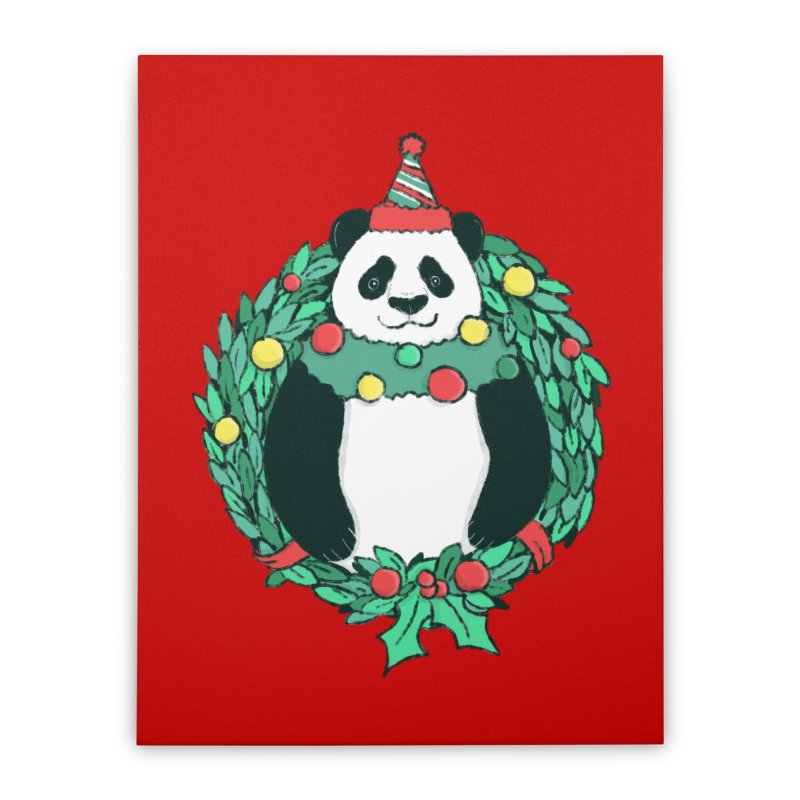 Beary Christmas Home Stretched Canvas by xiaobaosg