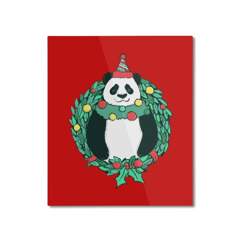 Beary Christmas Home Mounted Aluminum Print by xiaobaosg
