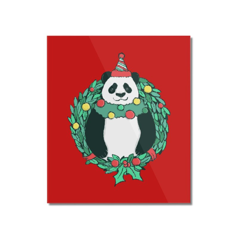 Beary Christmas Home Mounted Acrylic Print by xiaobaosg