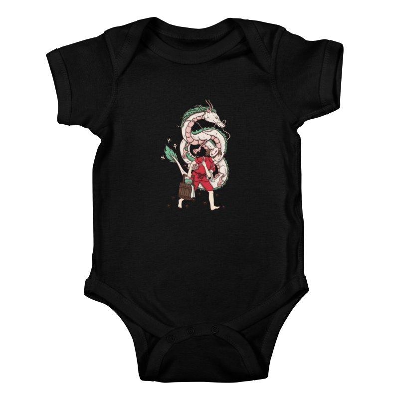 Sen to the rescue Kids Baby Bodysuit by xiaobaosg