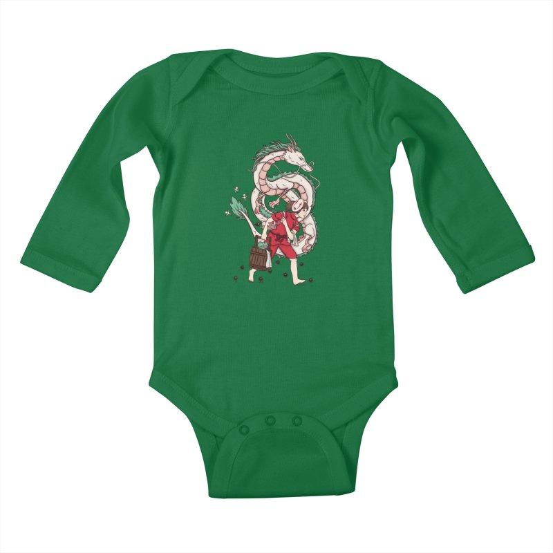 Sen to the rescue Kids Baby Longsleeve Bodysuit by xiaobaosg