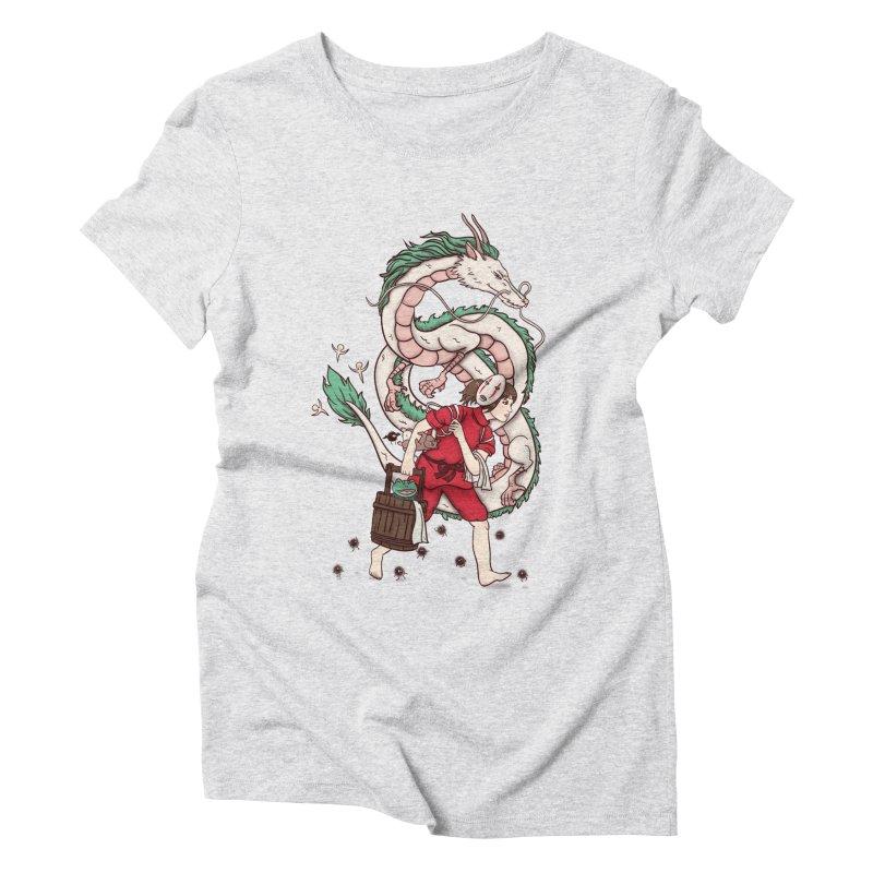 Sen to the rescue Women's Triblend T-Shirt by xiaobaosg