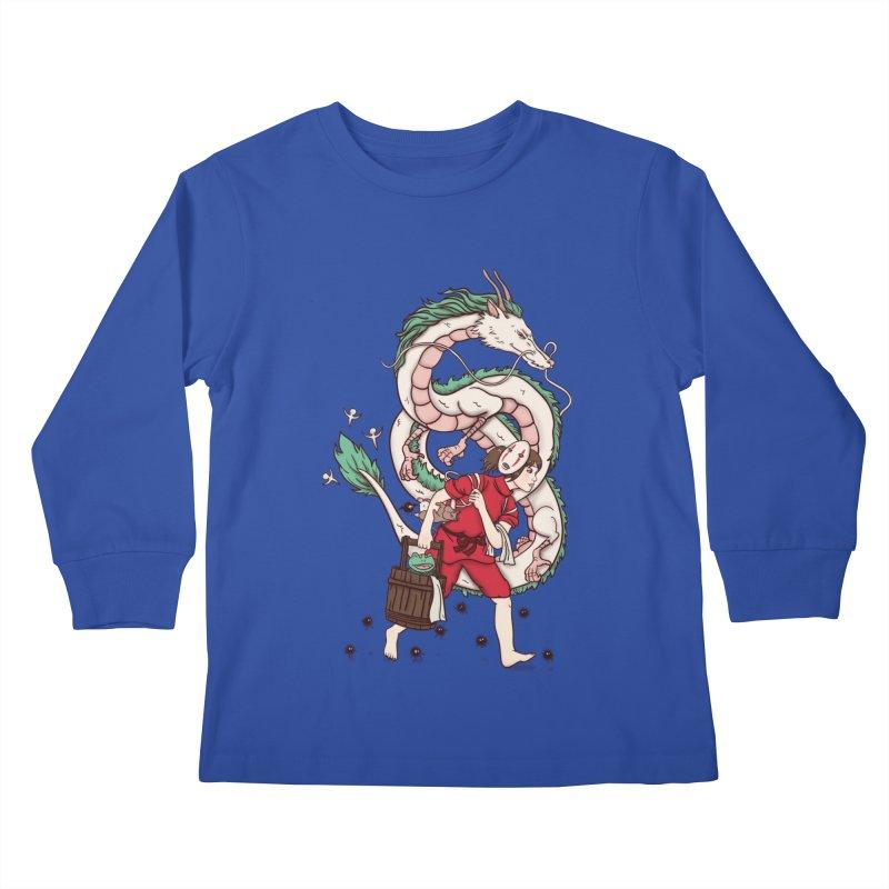 Sen to the rescue Kids Longsleeve T-Shirt by xiaobaosg
