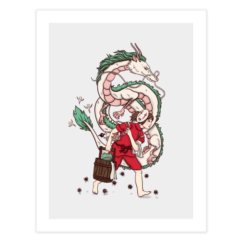 Sen to the rescue Home Fine Art Print by xiaobaosg