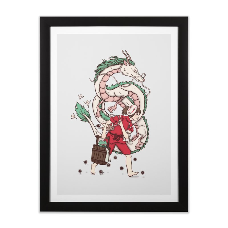Sen to the rescue Home Framed Fine Art Print by xiaobaosg