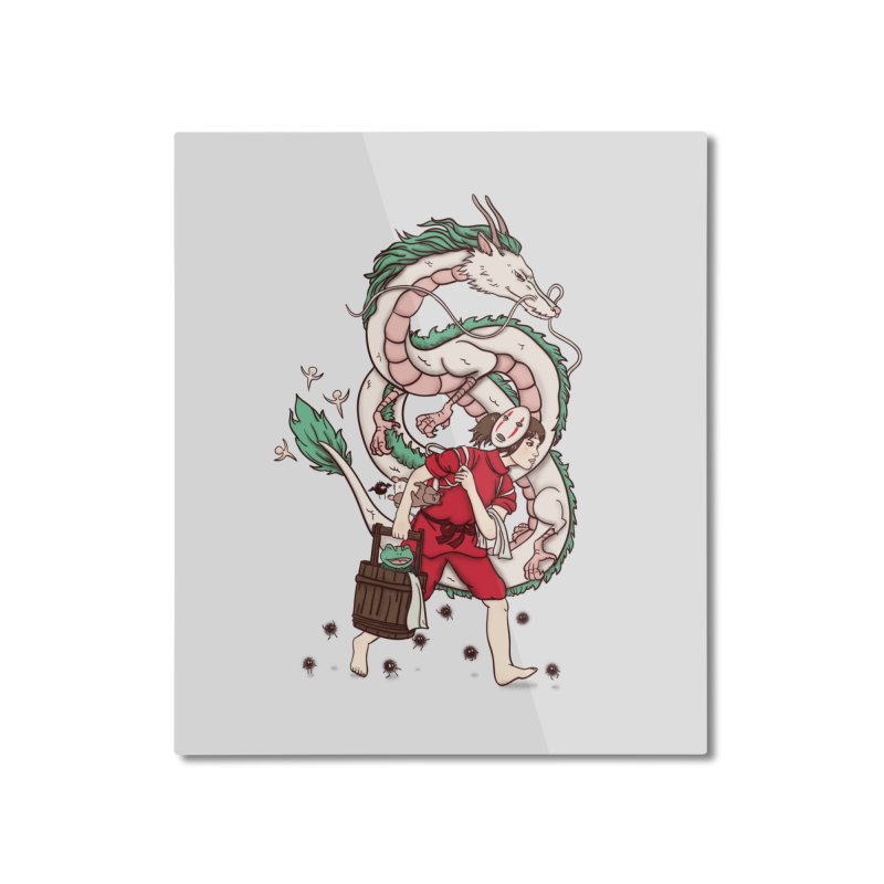 Sen to the rescue Home Mounted Aluminum Print by xiaobaosg