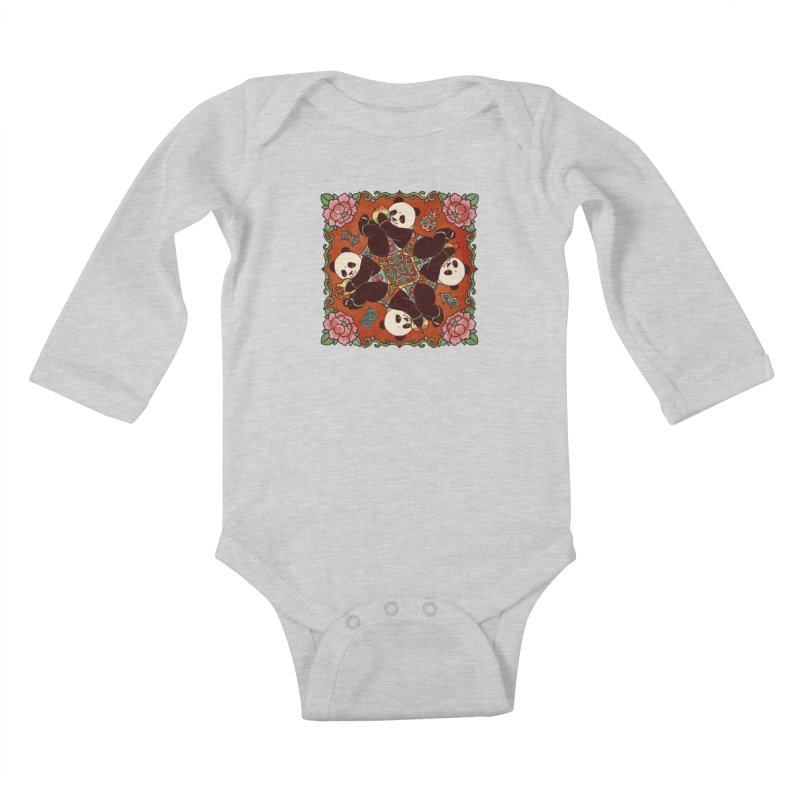 Good Luck and Happiness Kids Baby Longsleeve Bodysuit by xiaobaosg