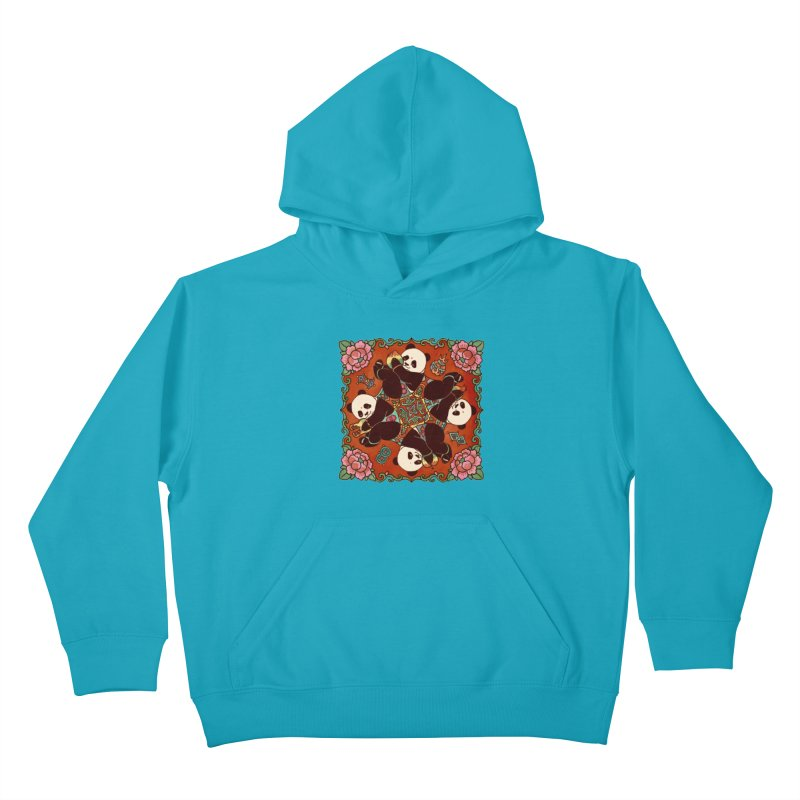 Good Luck and Happiness Kids Pullover Hoody by xiaobaosg