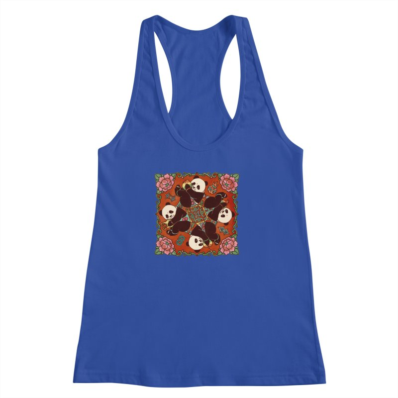 Good Luck and Happiness Women's Racerback Tank by xiaobaosg