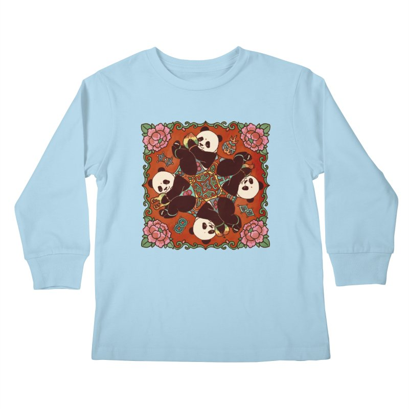 Good Luck and Happiness Kids Longsleeve T-Shirt by xiaobaosg