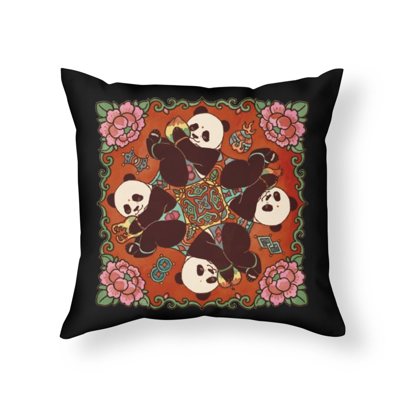 Good Luck and Happiness Home Throw Pillow by xiaobaosg