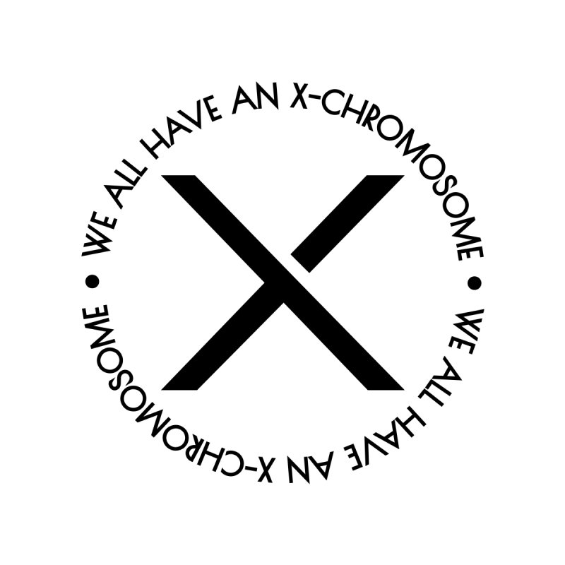 We All Have an X-Chromosome Black Logo by We All Have An X-Chromosome Shop