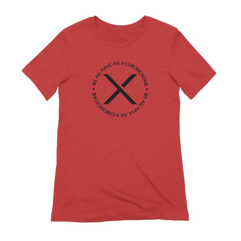 We All Have an X-Chromosome Black Logo Women's Extra Soft T-Shirt by We All Have An X-Chromosome Shop