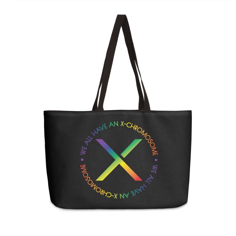 We All Have An X-Chromosome and Pride Accessories Weekender Bag Bag by We All Have An X-Chromosome Shop