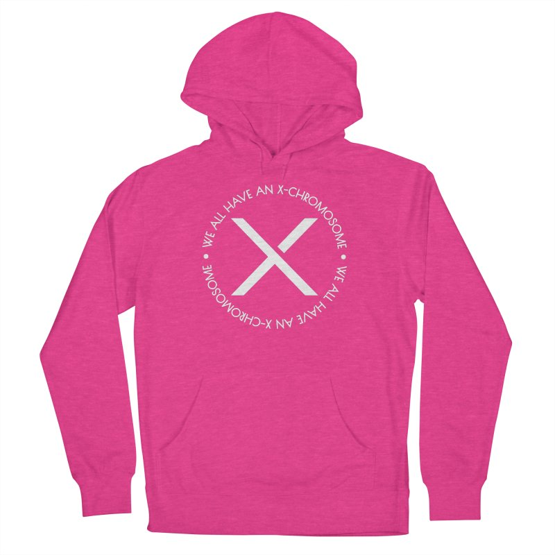 We All Have An X-Chromosome White Logo Men's French Terry Pullover Hoody by We All Have An X-Chromosome Shop