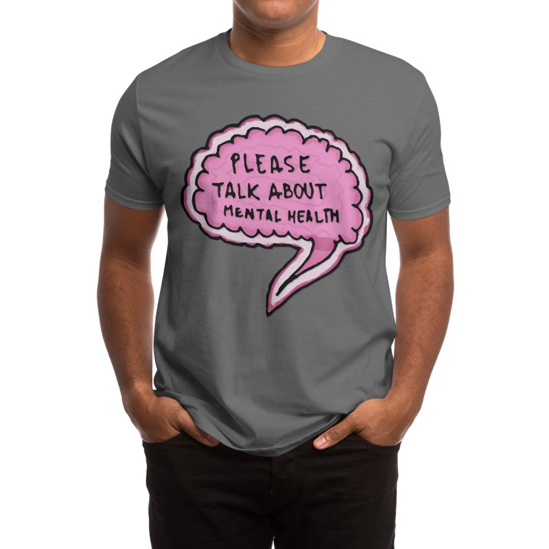PLEASE TALK ABOUT MENTAL HEALTH (thanks) Men's T-Shirt by xdCL