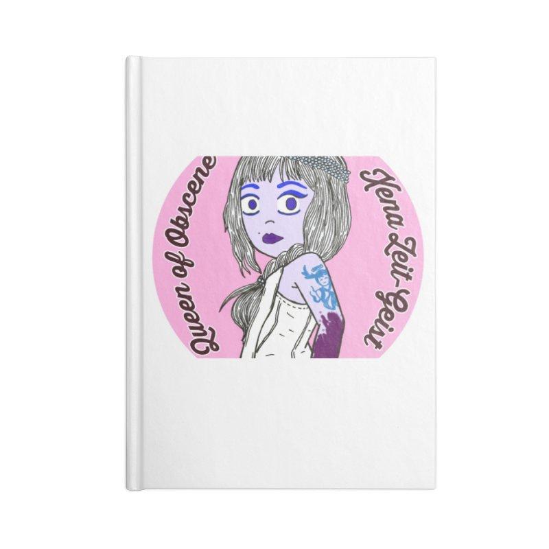 Chibi Queen of Obscene Accessories Blank Journal Notebook by Xena Zeit-Geist's Artist Shop