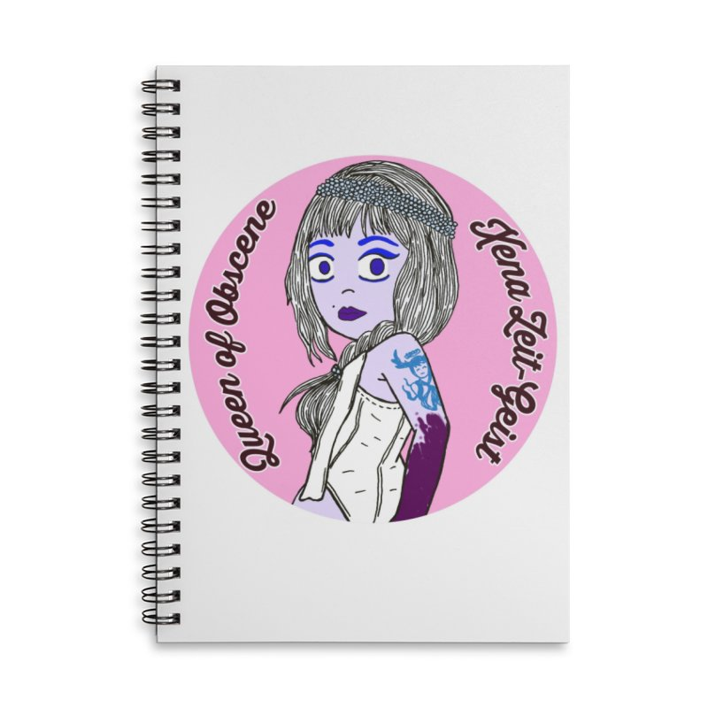 Chibi Queen of Obscene Accessories Lined Spiral Notebook by Xena Zeit-Geist's Artist Shop