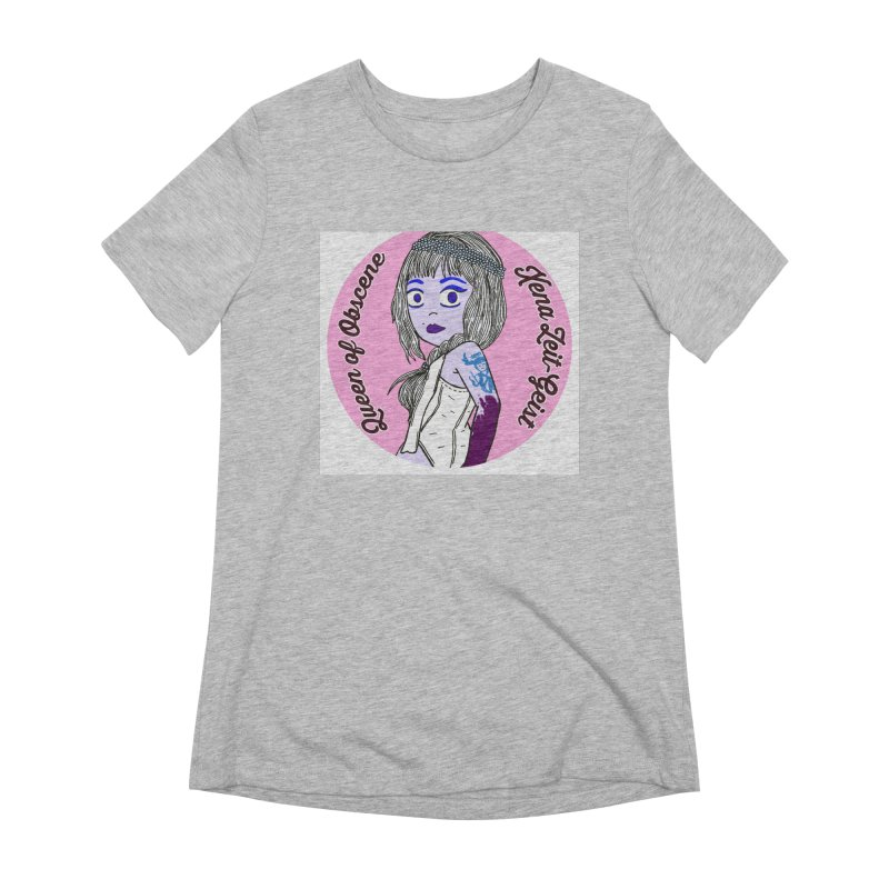 Chibi Queen of Obscene Women's Extra Soft T-Shirt by Xena Zeit-Geist's Artist Shop