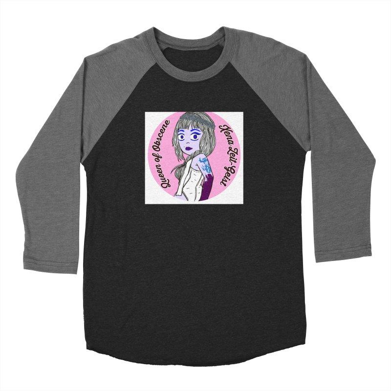 Chibi Queen of Obscene Men's Baseball Triblend Longsleeve T-Shirt by Xena Zeit-Geist's Artist Shop