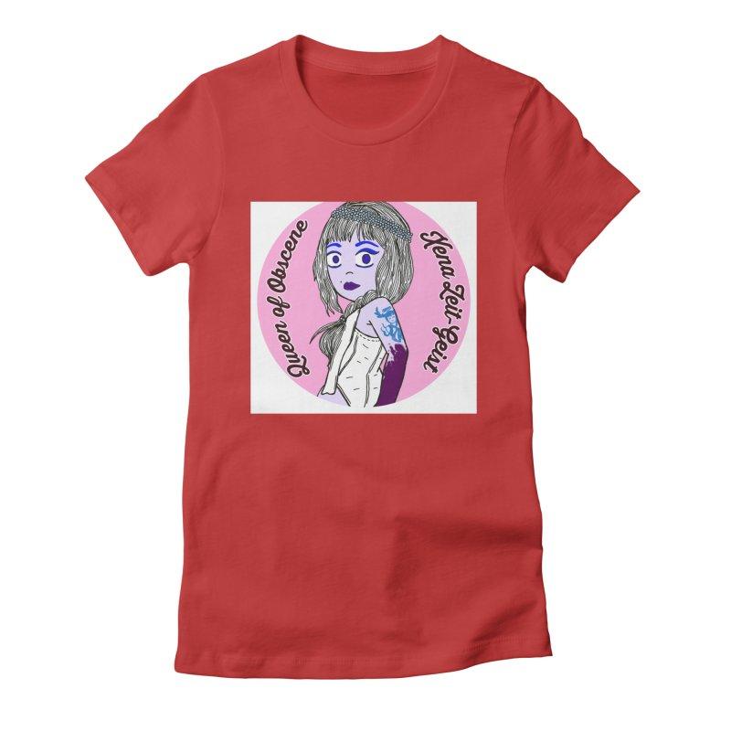 Chibi Queen of Obscene Women's Fitted T-Shirt by Xena Zeit-Geist's Artist Shop