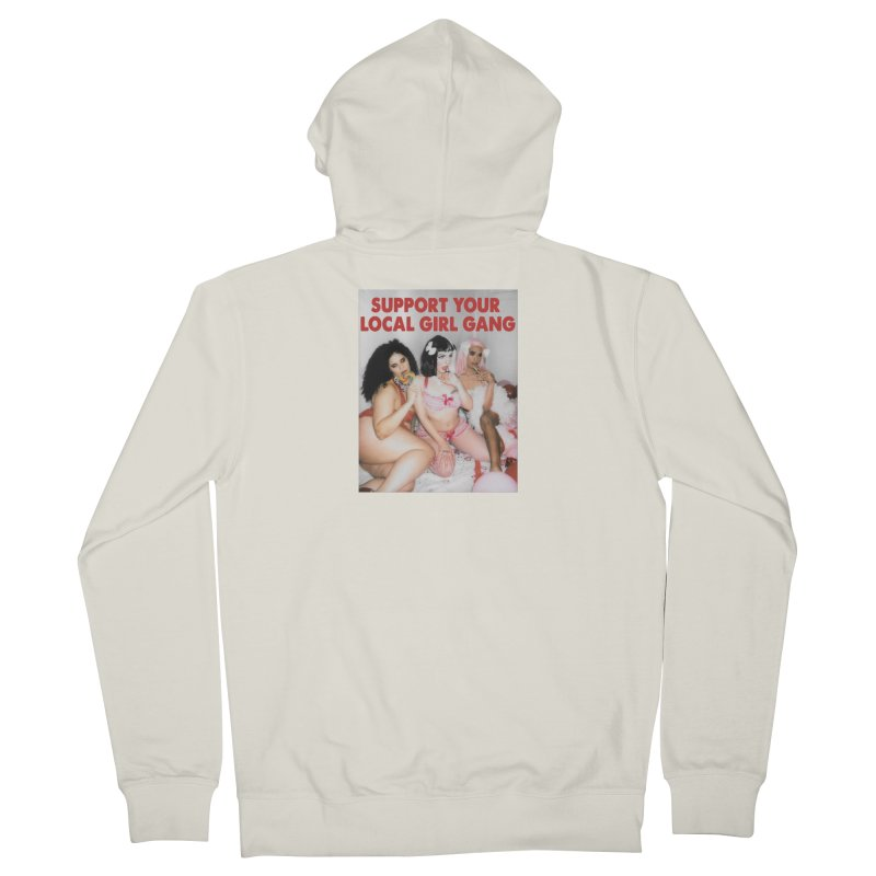 Support Your Local Girl Gang! Women's French Terry Zip-Up Hoody by Xena Zeit-Geist's Artist Shop