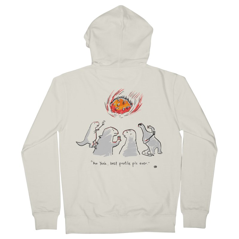 How the dinosaurs died Men's Zip-Up Hoody by Wear Bang Now