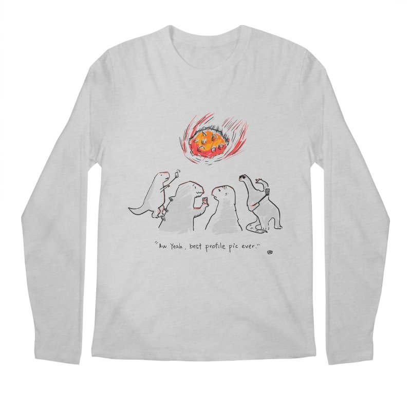 How the dinosaurs died Men's Longsleeve T-Shirt by Wear Bang Now