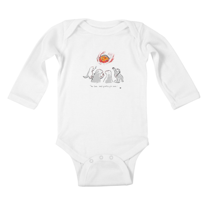 How the dinosaurs died Kids Baby Longsleeve Bodysuit by Wear Bang Now