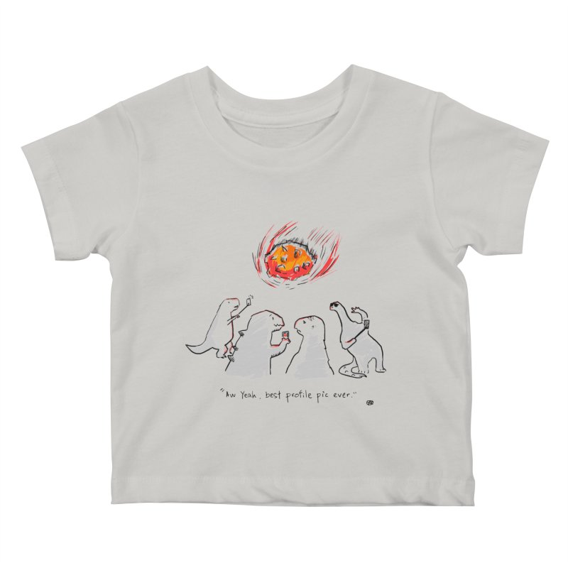How the dinosaurs died Kids Baby T-Shirt by Wear Bang Now