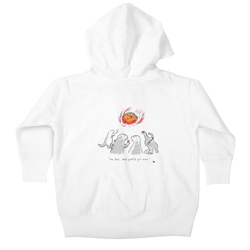 How the dinosaurs died Kids Baby Zip-Up Hoody by Wear Bang Now