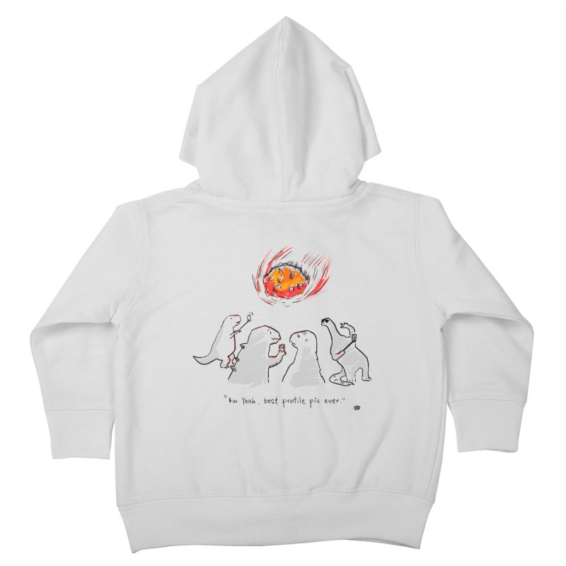 How the dinosaurs died Kids Toddler Zip-Up Hoody by Wear Bang Now