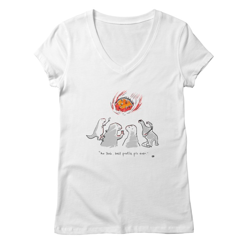 How the dinosaurs died Women's V-Neck by Wear Bang Now