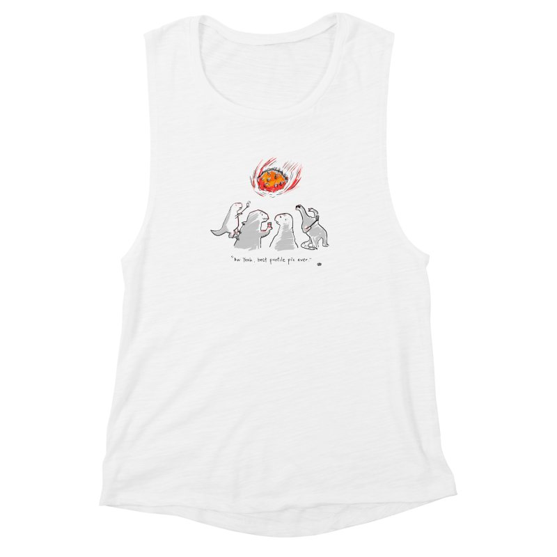 How the dinosaurs died Women's Muscle Tank by Wear Bang Now