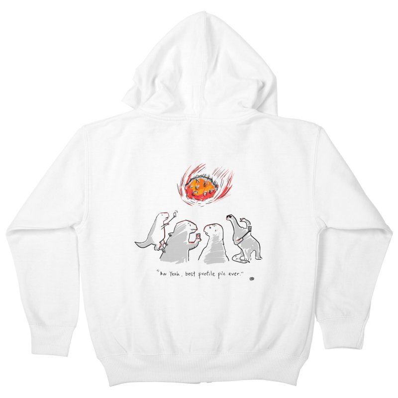 How the dinosaurs died Kids Zip-Up Hoody by Wear Bang Now