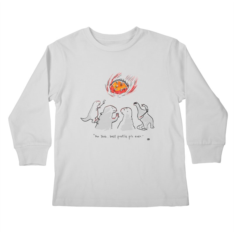 How the dinosaurs died Kids Longsleeve T-Shirt by Wear Bang Now