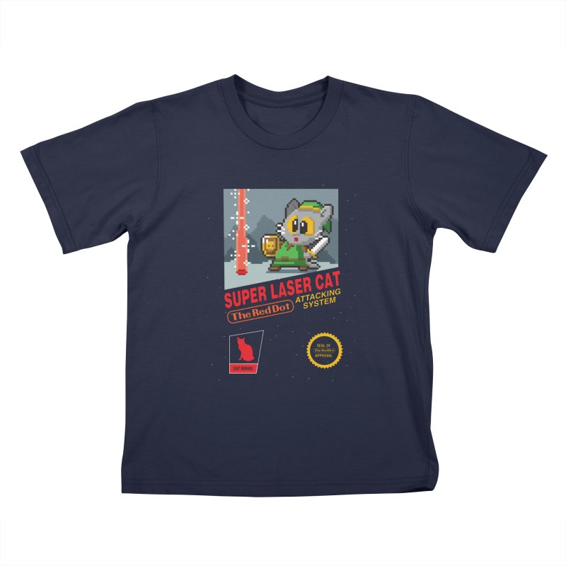 Red Dot Attacking System Kids T-Shirt by Kappacino Creations