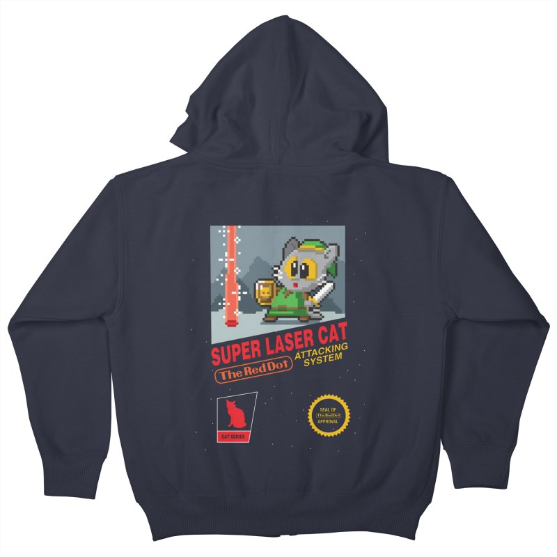 Red Dot Attacking System Kids Zip-Up Hoody by Kappacino Creations