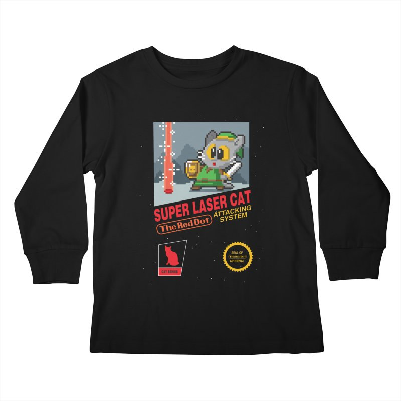 Red Dot Attacking System Kids Longsleeve T-Shirt by Kappacino Creations